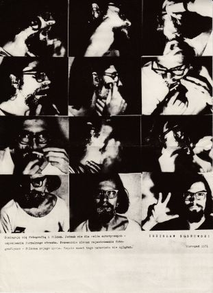 Group of photographs documenting early work by the conceptual art duo.