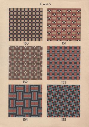 Two trade catalogs of the Rako manufacturer of ceramic tiles and fittings.