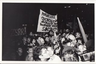 Group of forty vintage prints documenting various happenings by the Orange Alternative movement in Solidarity-era Poland.