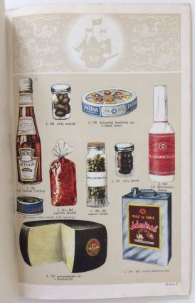 Czech trade catalog for import foods and condiments.