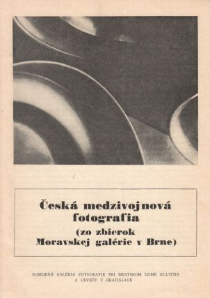 Česká medzivojnová fotografja (zo zbierok Moravskej galérie v Brne) [Czech interwar photography, from the collection of the Moravian Gallery in Brno].