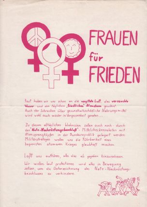 Collection of twenty-seven rare bulletins and flyers documenting the Women's Movement in West Berlin, 1968-1982.