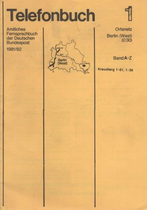 "Telefonbuch 1 [Camouflage publication: ""telephone book"" listing West Berlin squats and their..."