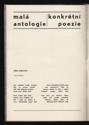 Obraz a písmo [Image and Letter]. Exhibition catalog on Czech concrete poetry and visual art.