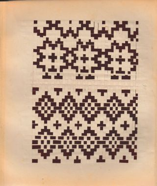 """Proplétání"" (cover title, i.e. ""Flechtschule"" of Czech origin). Leporello album of woven paper patterns."