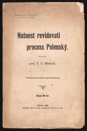 Nutnost revidovati process Polenský [On the need to revise the Polná legal case].