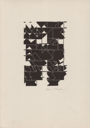Volné sebrání [Free gathering], vol. 3. Portfolio containing twenty-four works of art interleaved with hand- and typewritten texts, many of them unique or limited.