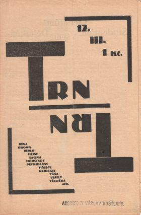 Trn: satirický časopis studentů [The thorn: a satirical student journal]. Vol. 3, no. 12 (1926).
