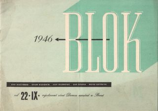 Blok 1946. 24. výstava v Domě umění v Brně [Block 1946. 24th exhibition at the House of Art...