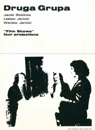 """Film Shows"" four projections. Jacek Stok osa, Wac aw Janicki: Druga Grupa Les aw Janicki"