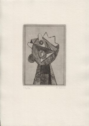 FG 1973. Cycle of four drypoint etchings, signed, laid into original printed folder....