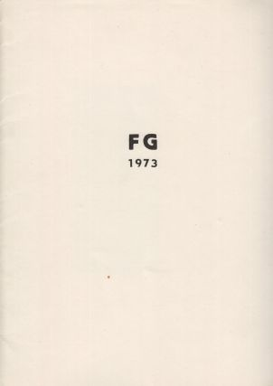 FG 1973. Cycle of four drypoint etchings, signed, laid into original printed folder.