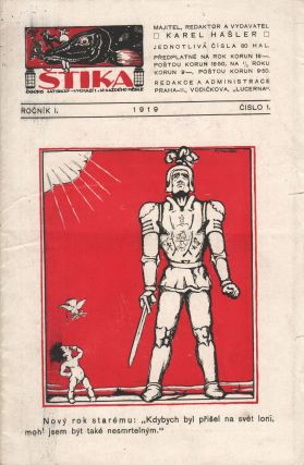Štika: časopis satirický [The pike: a satirical journal], vol. I, no. 1. Karel Hašler