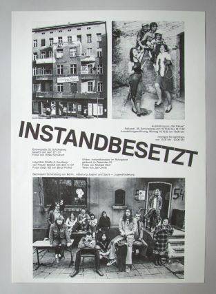 Collection of posters documenting the West Berlin squatting scene and related autonomous groups.